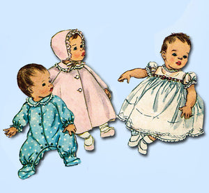 1960s Original Vintage Simplicity Sewing Pattern 4287 Sweet Infants Layette Set from Vintage4me2
