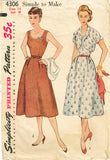 1950s Misses Simplicity Sewing Pattern 4306 Misses Sun Dress and Bolero Size 14 -Vintage4me2