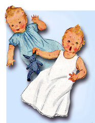 1940s Vintage Simplicity Sewing Pattern 4324 Sweet WWII Infant Baby Layette Set