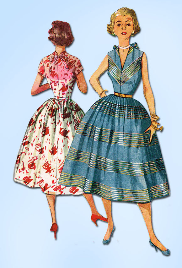 1950s Vintage Simplicity Sewing Pattern 4341 Misses Sun Dress Size 13 31 Bust