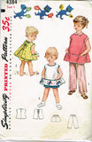 1950s Original Vintage Simplicity Pattern 4384 Toddler Girls Play Apron Size 1