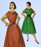 1950s Misses Simplicity Sewing Pattern 4378 Easy Misses Jumper Dress Sz 14 32B