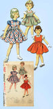 1950s Vintage Simplicity Sewing Pattern 4407 Toddler Girls Jumper Dress Size 6