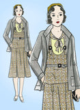 Simplicity 442: 1930s Uncut Girls Ensemble Jacket Size 10 Vintage Sewing Pattern