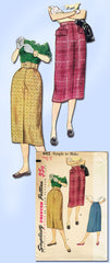 1950s Vintage Simplicity Sewing Pattern 4415 Uncut Easy to Make Day Skirt 25W