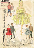 1960s Vintage Simplicity Sewing Pattern 4422 Barbie and Ken Doll Clothes Set -Vintage4me2