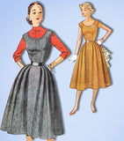 1950s Vintage Simplicity Sewing Pattern 4422 Uncut Misses Jumper Dress Sz 12 30B -Vintage4me2