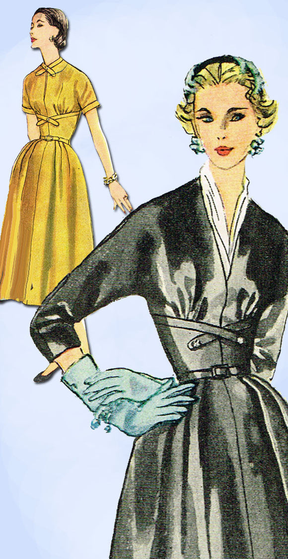 1950s Vintage Simplicity Sewing Pattern 4428 Misses Cocktail Dress Size 12 30B