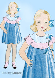Simplicity 444: 1930s Uncut Baby Girls Bloomer Dress Sz 2 Vintage Sewing Pattern - Vintage4me2