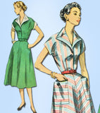 1950s Vintage Misses Day Dress Uncut 1953 Simplicity Sewing Pattern 4449 Size 14
