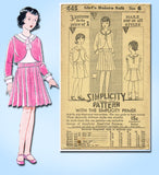 1930s Vintage Simplicity Sewing Pattern 445 Uncut Toddler Girls Bolero Suit Sz 6 - Vintage4me2