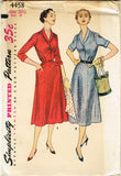 1950s Misses Simplicity Sewing Pattern 4458 FF Misses Half Size Dress Sz 39 Bust
