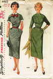 1950s Vintage Simplicity Sewing Pattern 4465 Uncut Misses Day Dress Size 12 30B