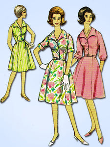 1960s Vintage Simplicity Sewing Pattern 4478 Uncut Misses Shirtwaist Dress 35B