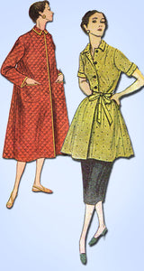 1950s Vintage Simplicity Sewing Pattern 4494 FF Misses Easy Robe or Duster 37 B