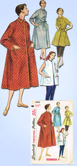 1950s Vintage Simplicity Sewing Pattern 4494 Simple Misses Housecoat Sz 35 Bust
