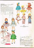 1950s Vintage Simplicity Sewing Pattern 4509 Saucy Walker 22 In Doll Clothes
