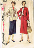 1950s Vintage Simplicity Sewing Pattern 4563 Misses Tailored Suit Size 16 34 B