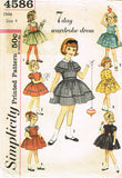 1950s Vintage Simplicity Sewing Pattern 4586 Toddler Girls 7 Day Dress Size 4 - Vintage4me2