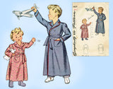 vSimplicity 4629: 1940s WWII Toddler Boys or Girls Robe Sz 2 Vintage Sewing Pattern - Vintage4me2