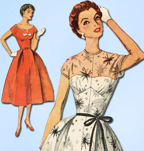 1950s Vintage Simplicity Sewing Pattern 4634 Misses Cocktail Dress