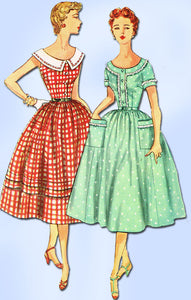 1950s Misses Simplicity Sewing Pattern 4641 FF Misses Mother Dress Size 12 30B
