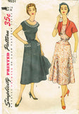 1950s Vintage Simplicity Sewing Pattern 4651 Uncut Misses Dress & Jacket Size 14