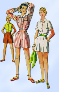 1950s Misses Simplicity Sewing Pattern 4681 FF Misses Shirt and Shorts Sz 14 32B
