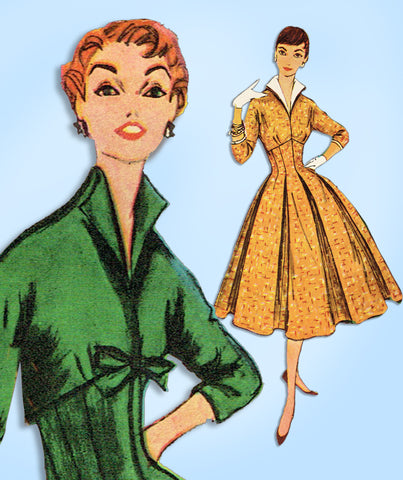 1950s Vintage Simplicity Sewing Pattern 4801 Uncut Misses Empire Dress Size 32 B