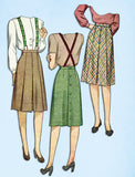 1940s Vintage Simplicity Sewing Pattern 4824 Plus Size WWII Pleated Skirt 32 W