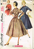 1950s Vintage Simplicity Sewing Pattern 4828 Uncut Misses Shirtwaist Dress Sz 30 B -Vintage4me2