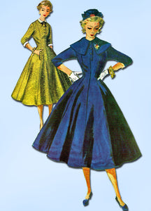 1950s Vintage Simplicity Sewing Pattern 4831 FF Misses Princess Dress Size 12