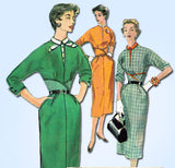 1950s Vintage Simplicity Sewing Pattern 4833 Uncut Misses Dress Gr8 Bodice Sz 12
