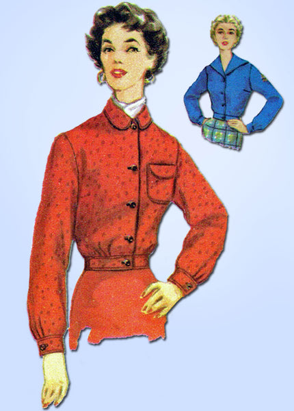 1950s Vintage Simplicity Sewing Pattern 4855 Uncut Misses Battle Jacket Size 12