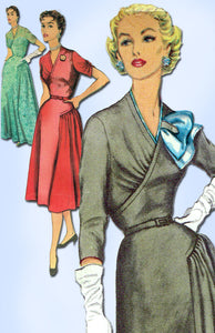 1950s Misses Simplicity Sewing Pattern 4895 Uncut Misses Cocktail Dress Sz 37 B