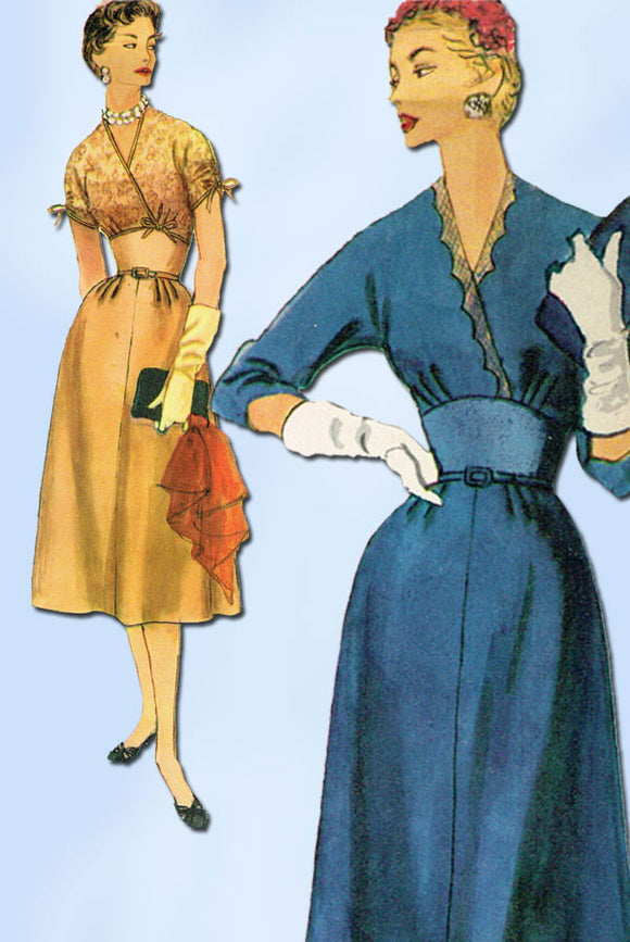 1950s Vintage Simplicity Sewing Pattern 4896 Uncut Misses Cocktail Dress Size 14