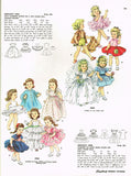 1950s Vintage Simplicity Sewing Pattern 4909 21.5 Inch Little Girl Doll Clothes -Vintage4me2