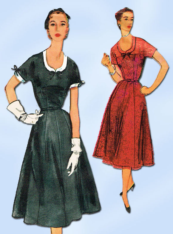 1950s Vintage Simplicity Sewing Pattern 4922 Uncut Misses Cocktail Dress Size 14
