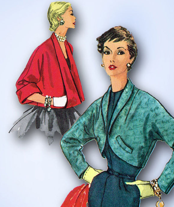 1950s Vintage Simplicity Sewing Pattern 4944 Uncut Misses Jacket Set Size 18 36 B