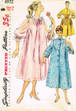 1950s Vintage Simplicity Sewing Pattern 4972 Misses Peignoir or Negligee 32 Bust - Vintage4me2