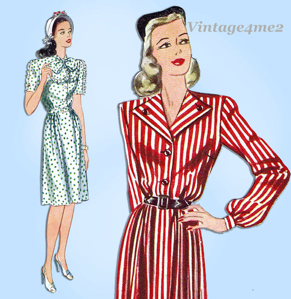 Simplicity 4779: 1940s Uncut Misses WWII Dress Sz 38 Bust Vintage Sewing Pattern