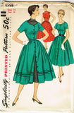 1950s Vintage Simplicity Sewing Pattern 4998 Uncut Misses Layered Dress Size 14