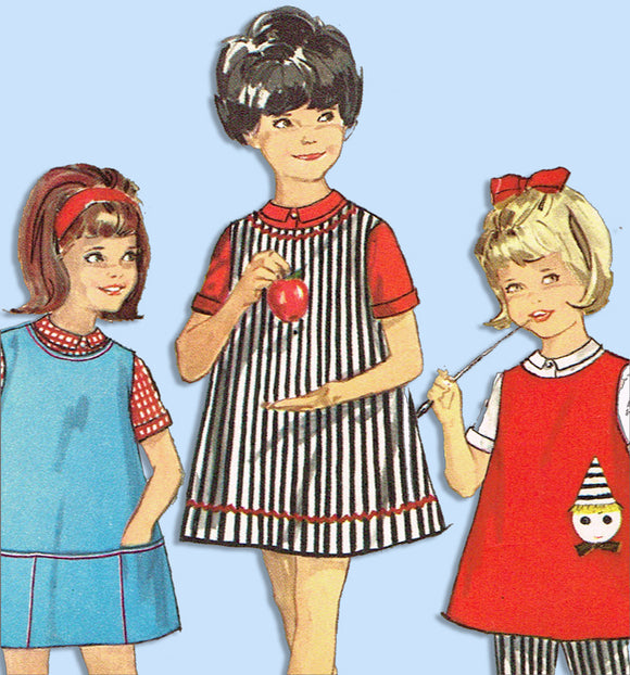 1960s Vintage Simplicity Sewing Pattern 5046 Baby Girls Dress or Top & Pants Sz2 -Vintage4me2