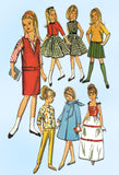 1960s Vintage Simplicity Sewing Pattern 5861 Uncut 9 Inch Skipper Doll Clothes