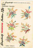 1940s VTG Simplicity Embroidery Transfer 7248 Uncut Nosegay Floral Guest Towels
