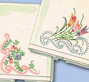 1940s Vintage Simplicity Embroidery Transfer 7367 Uncut Decorative Guest Towels