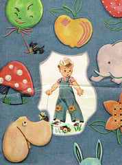 1940s Simplicity Embroidery Transfer 7411 Uncut Toddlers Applique Knee Patches
