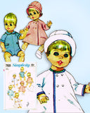 1960s Vintage Simplicity Sewing Pattern 7931 Cute 9 Inch Baby Doll Clothes ORIG
