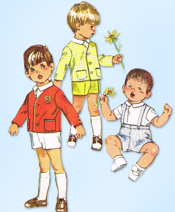 1960s Vintage Simplicity Sewing Pattern 8118 Uncut Toddler Boys Suit Size 2