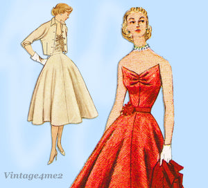 Simplicity 8471: 1950s Misses Boned Bodice & Skirt Sz 30B Vintage Sewing Pattern